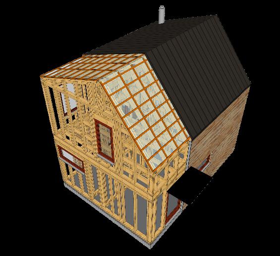 Náhled stavby ve SketchUp