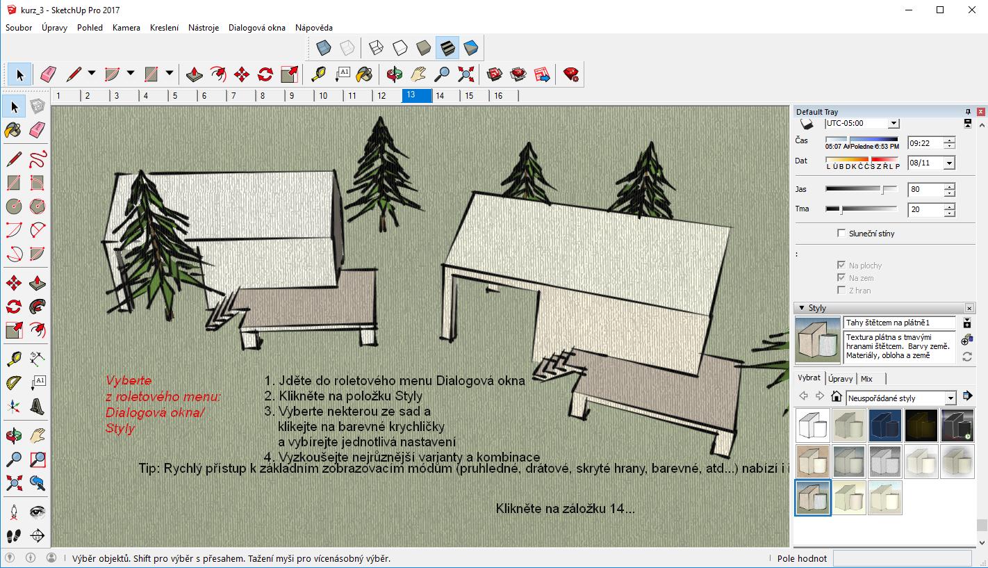 SketchUp učebnice - 3. část